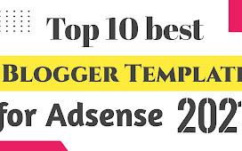 Top 10 responsive blogger template for AdSense - Pandey Ji Technical