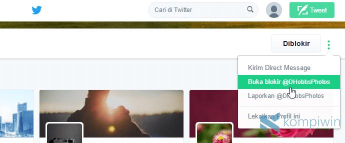 cara blokir twitter punya teman