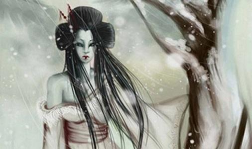 Efsanevi Yaratık Yuki-onna (kar kadın)