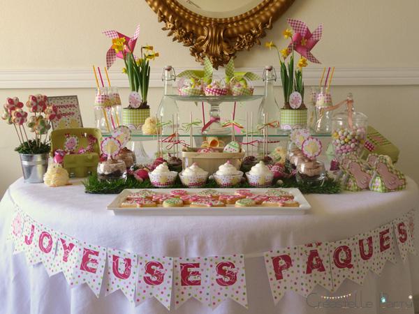 cr astelle party sweet table jardin de p ques. Black Bedroom Furniture Sets. Home Design Ideas
