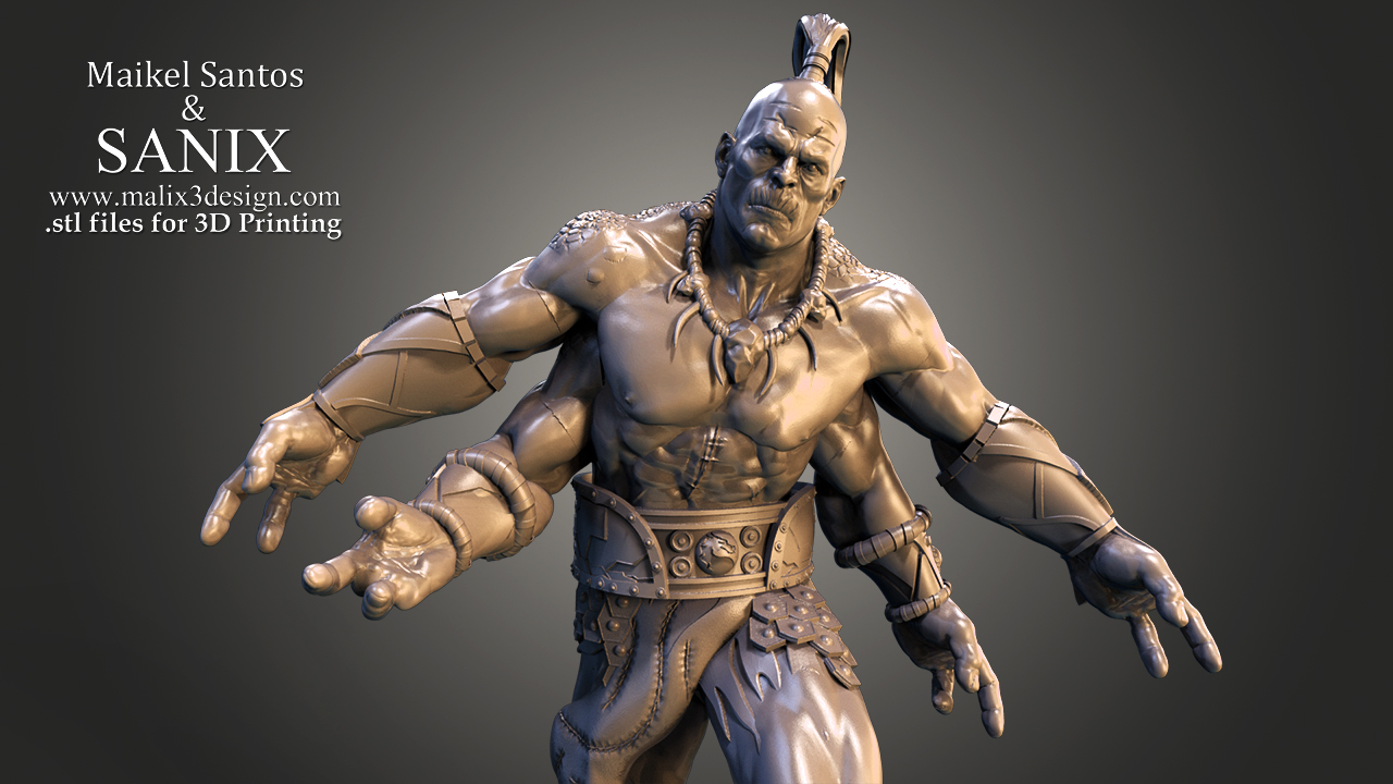 Mortal Kombat Goro 3d Printable Model Www Malix3design Com