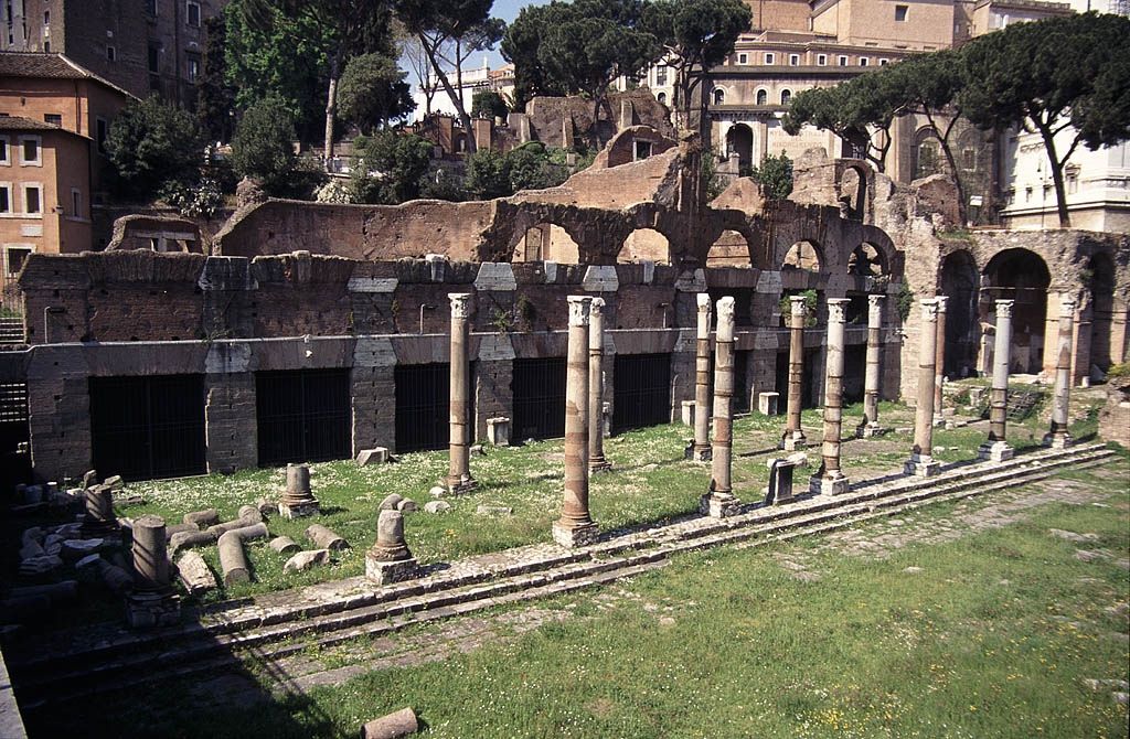 Forum of Caesar, the first of the imperial forums of Rome