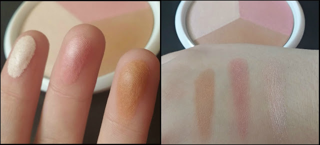 Wet 'n' Wild Color Icon Blush & Glow Trio in Sunset Junction - swatches