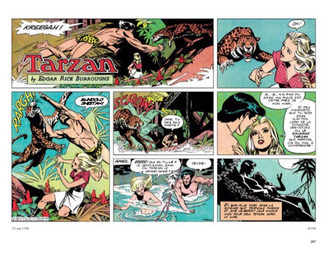 Tarzan : Intégrale Russ Manning Newspaper strips Volume Deux : 1969 - 1971 éditions Graph Zeppelin Page 207