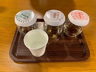 無料試飲コーナーで提供される3種のお酒