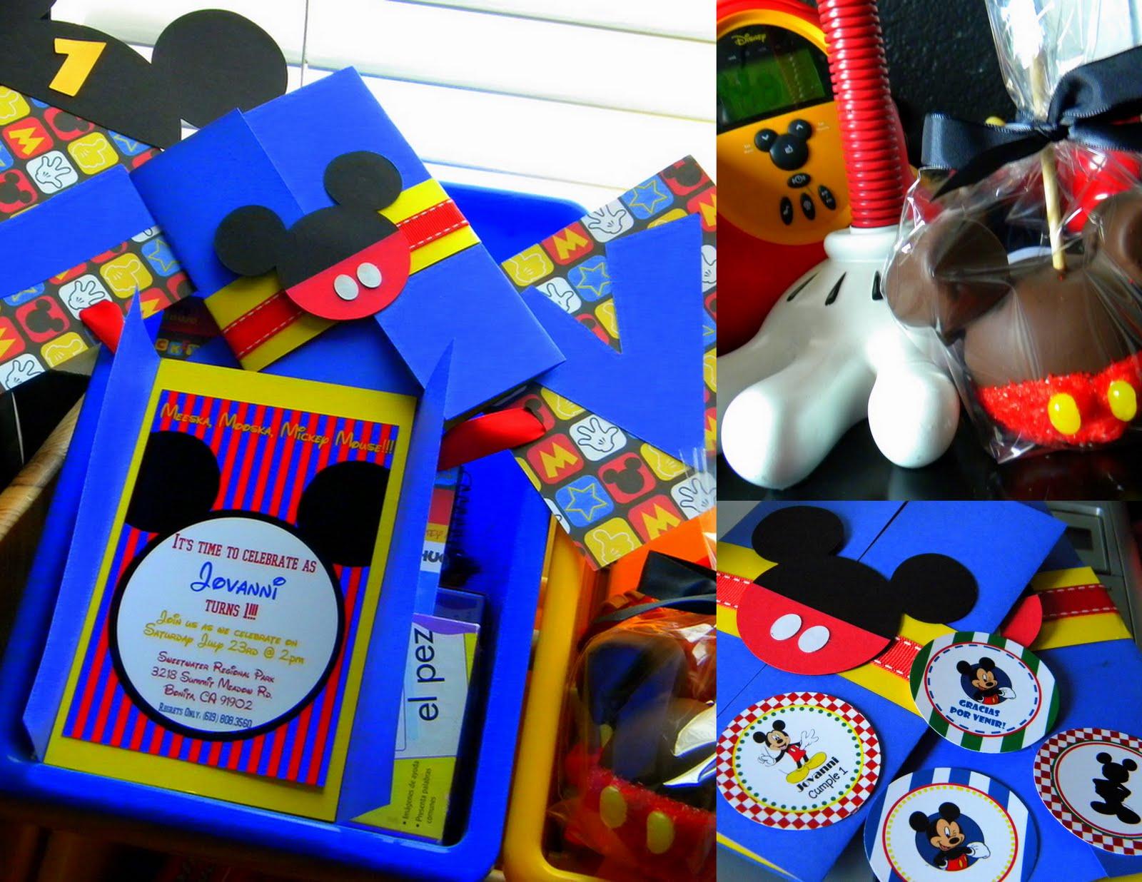 1st Birthday Mickey Mouse Theme