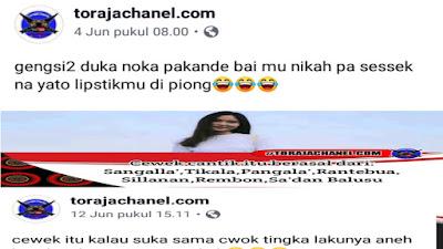 Berbagai Tulisan Fanspage Torajachanel.com Mengundang Tawa Masyarakat Toraja