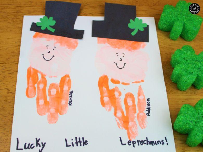 leprechaun handprint art