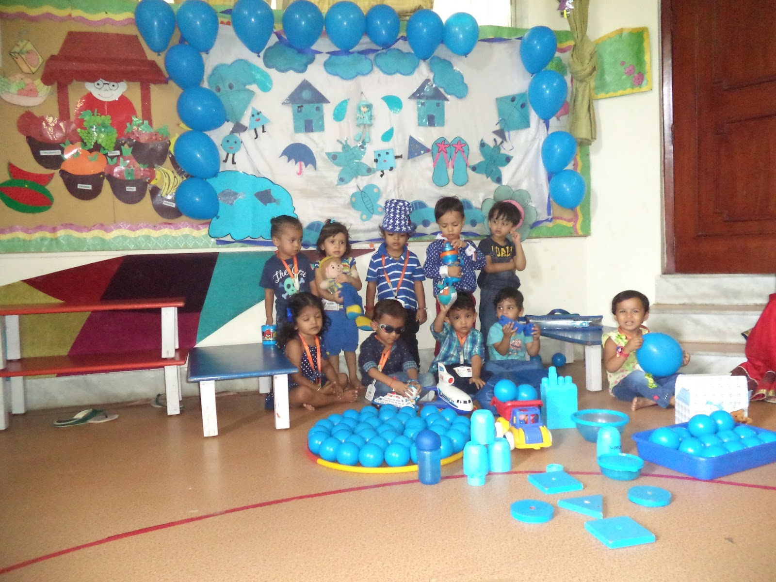 On The Top Of The World Blue Coloue Day Celebrated Playgroup On 25 08 Wksn Bhilwara