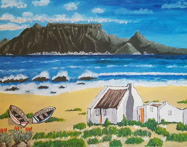 Table Mountain Cape Town - Original acrylic paintings on 380 GSM stretch canvas - 100% pure cotton