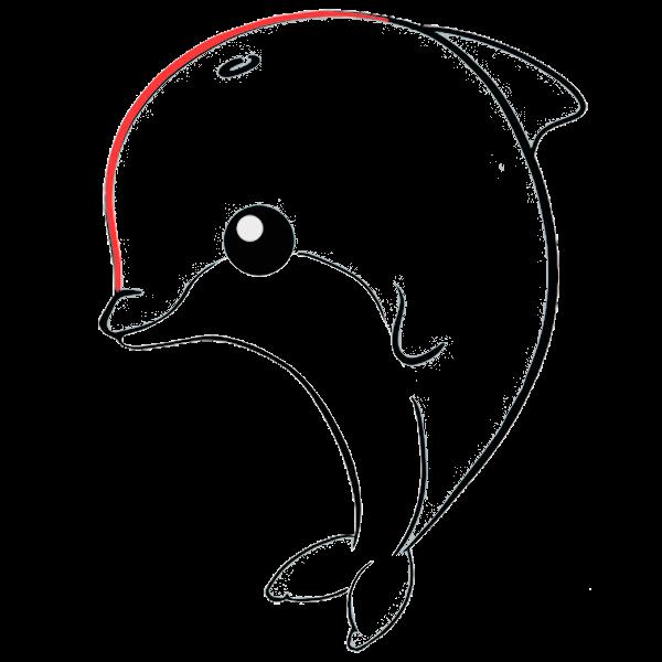 delfin kawaii colorear