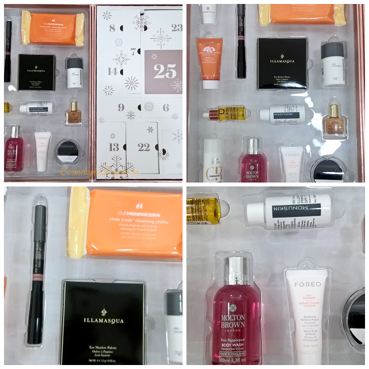 LookFantastic Beauty Secret Vol. 2 Advent Calendar for Holiday 2016 contents, review, unboxing.