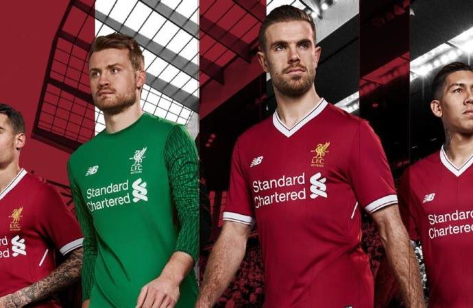 55a43ce14 Liverpool unveil 2017-18 home kit in celebration of 125th anniversary