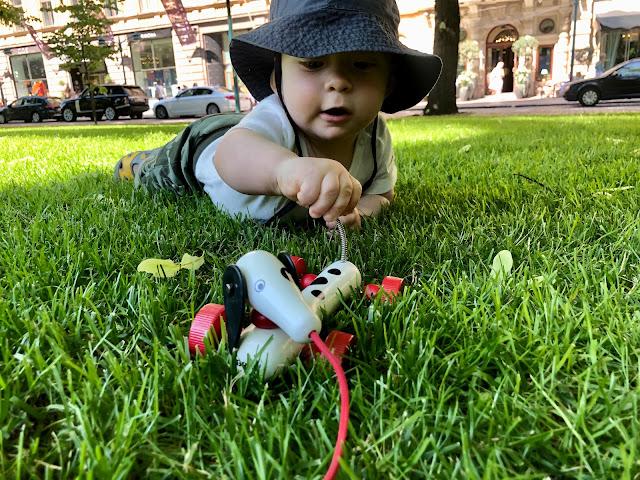 Noel leikkimässä Espan puistossa