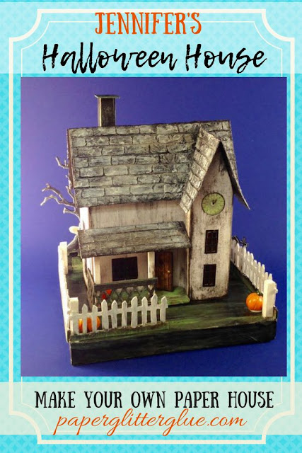 How to make a Halloween house made of cardboard and paper #putzhouse #halloweenhouse #howtomakehalloweenhouse