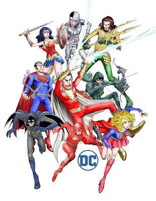 Los dibujos de Monkey Punch dedicados a los superheroes de DC Comics.