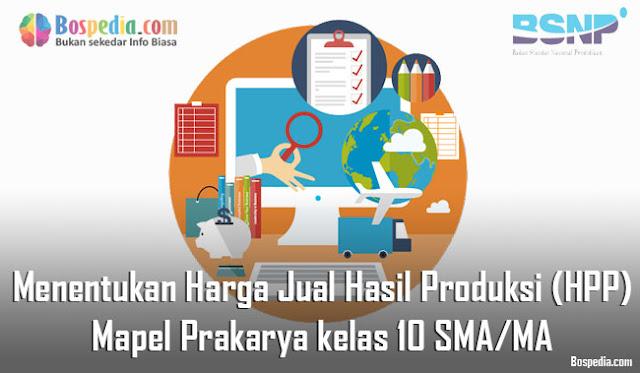 Materi Menentukan Harga Jual Hasil Produksi (HPP) Mapel Prakarya kelas 10 SMA/MA