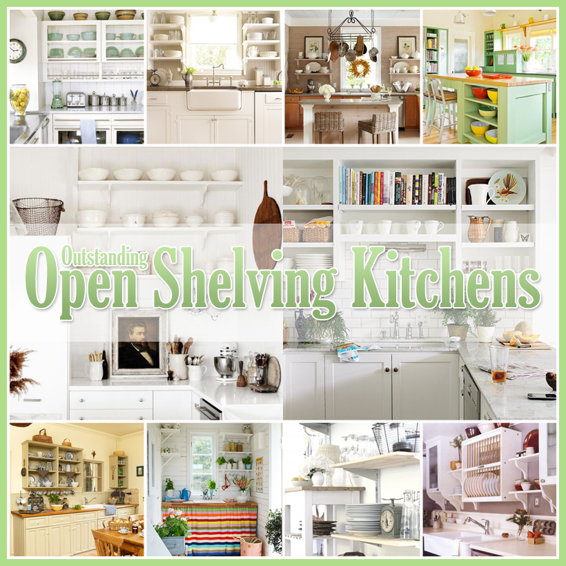 Outstanding Open Kitchen Shelves