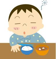 わんぱくランチ・保育園Deイラスト: 朝食の欠食の原因