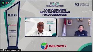 Pelindo 1 Raih Akhlak Award dari Kementerian BUMN