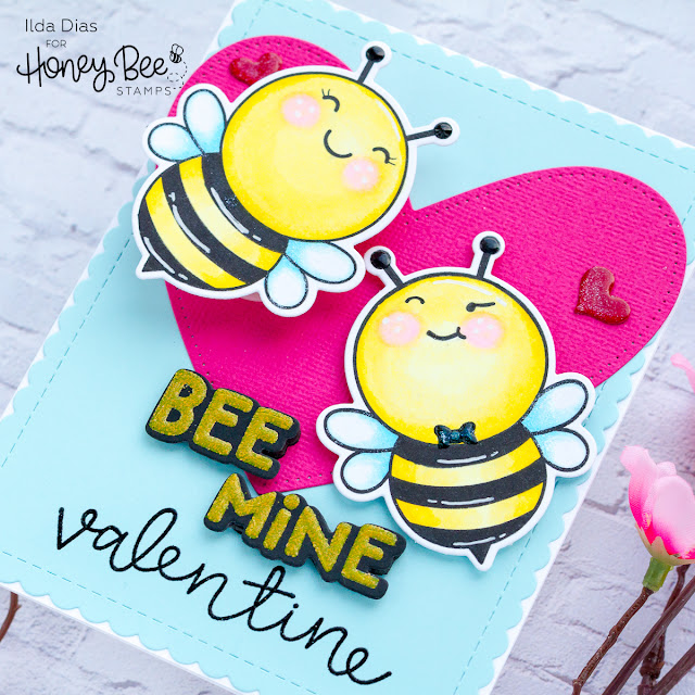 Bee Mine Valentine Action Wobble Card | Day 1 Sneak Peek | Honey Bee Stamps by ilovedoingallthingscrafty.com