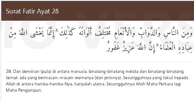 al quran fatir 28