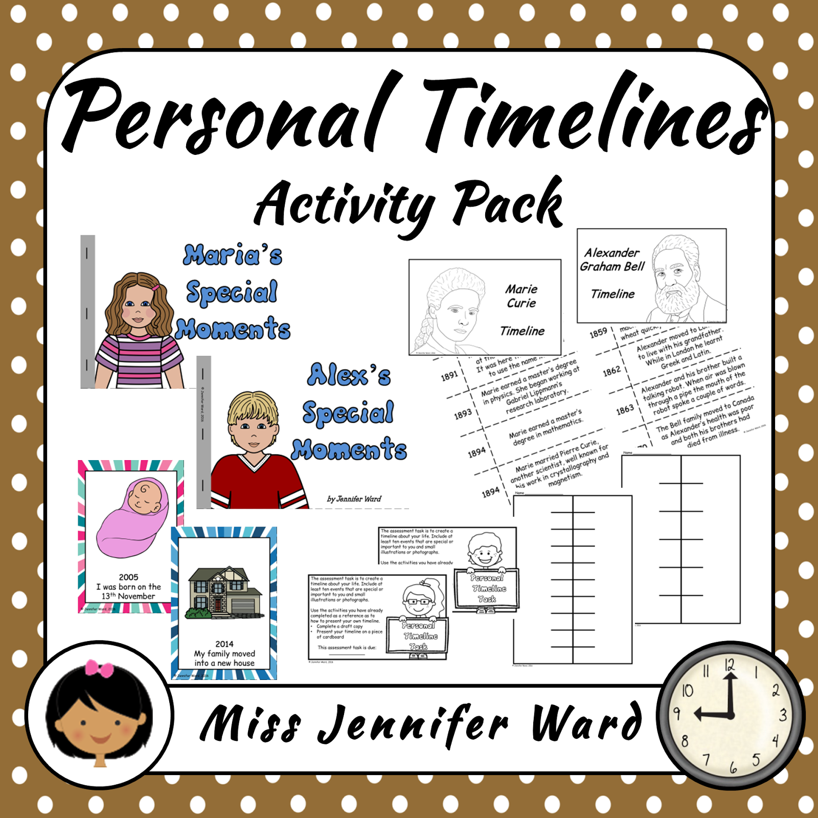 https://www.teacherspayteachers.com/Product/Personal-Timelines-Activity-Pack-2430932