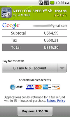 Android Developers Blog: More Payment Options in Android Market