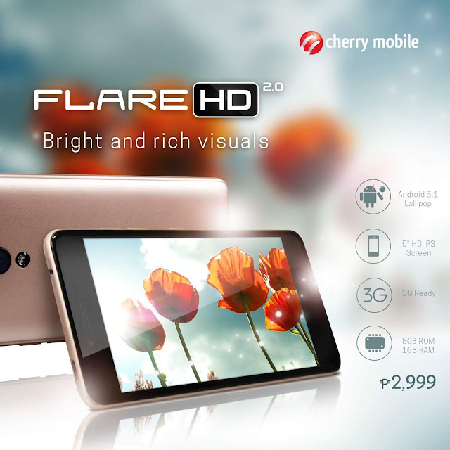 Cherry Mobile Flare HD 2 Arrives, Budget Quad-core for PHP 2,999