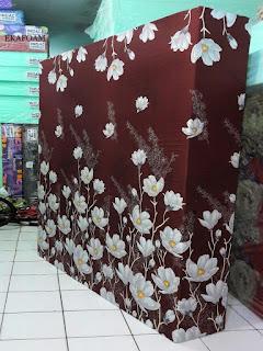 Kasur inoac motif bunga alya coklat
