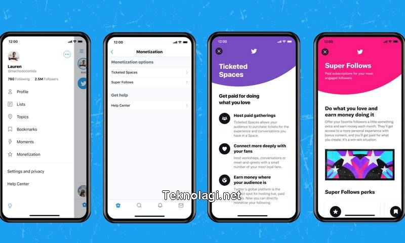 Cara Menghasilkan Uang dari Twitter Super Follow dan Ticketed Space (twitter.com)