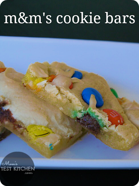 Mom's Test Kitchen: M&M Cookie Bars