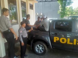 8 Orang Tahanan Polsek Pontianak Timur Dipindahkan ke Polresta Pontianak Kota