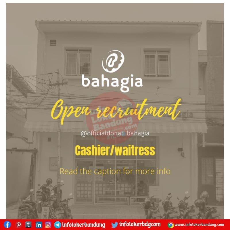 Lowongan Kerja Cashier & Waitress Donat Bahagia Bandung Juli 2021