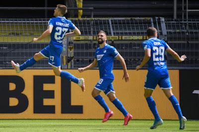 """Video Dortmund 0-4 Hoffenheim: """"Buông súng"""" cực sốc, tưng bừng cú poker"""