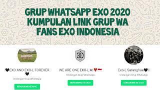 Link Grup Whatsapp EXO 2020