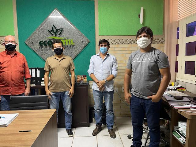 Prefeito Juninho Alves se reúne com empresa para gerar mais de 200 empregos diretos em Caraúbas