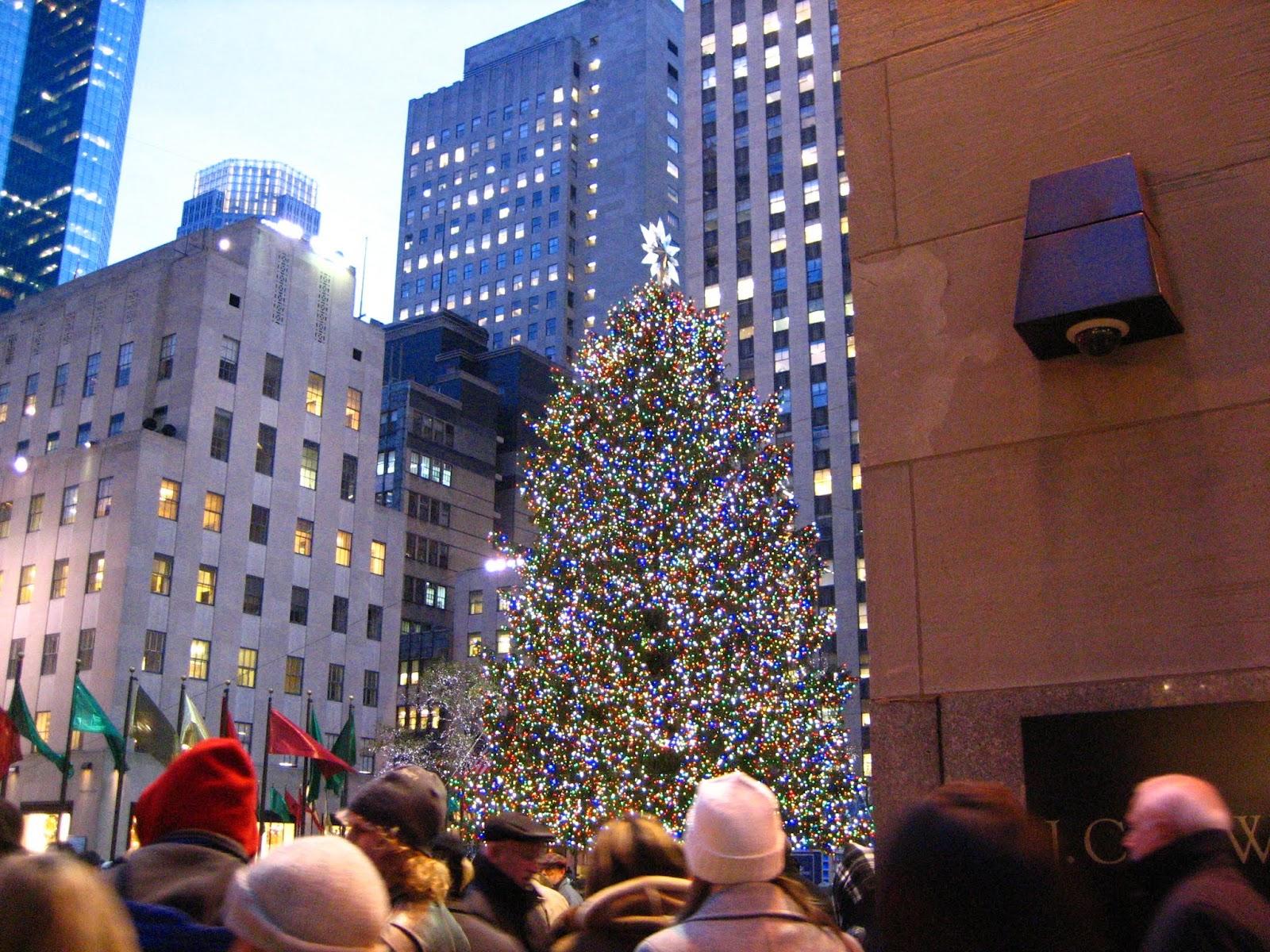 Rockefeller Center-christmastree ロックフェラーセンターのクリスマスツリー
