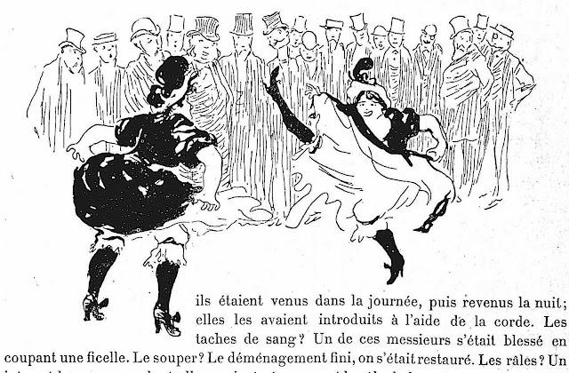 a Jean Veber 1895 cartoon of a dance-off in Paris