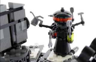 lego star wars 75183 darth vader transformation large medical droid minifigure closeup detail