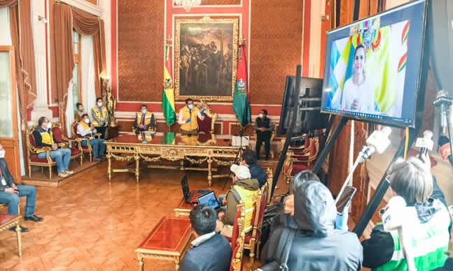 Revilla agradece a la presidenta Áñez por hacer gestiones para consolidar la construcción de un nuevo hospital en La Paz