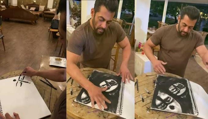 कोरोना वायरस के कारण सलमान खान ने भी किया खुद को घर में बंद, खाली समय में बना डाली पेंटिंग