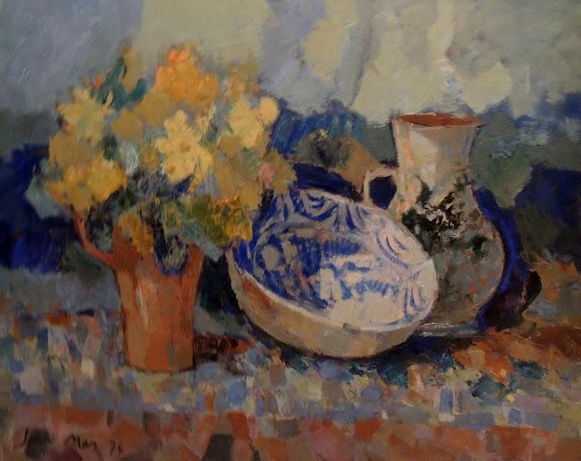 Joan Más arte pintura al óleo bodegón con flores