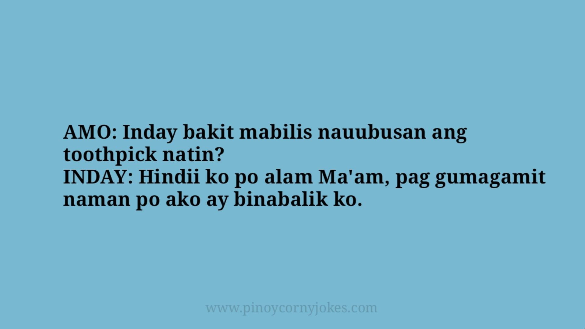 toothpick best maid tagalog jokes 2021