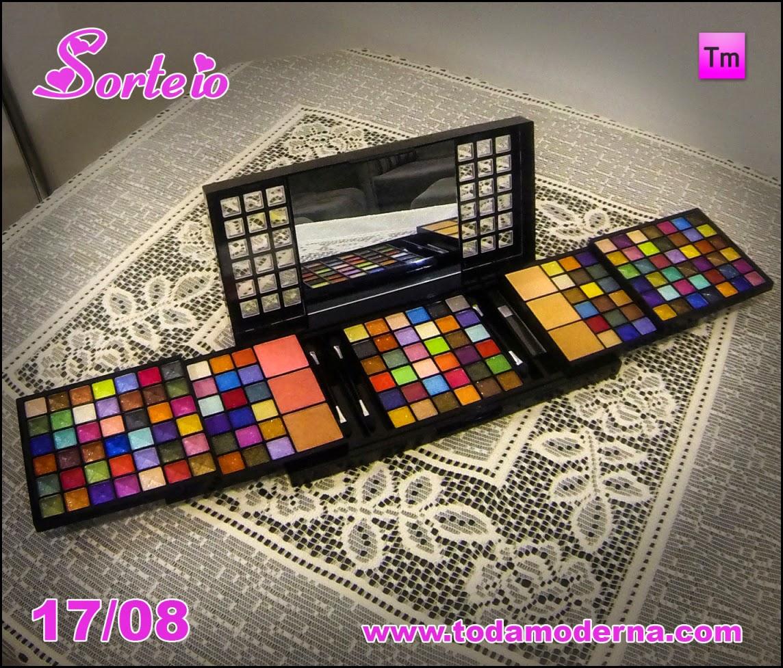 Sorteio: Kit de Maquiagem Jasmyne com 172 Itens 3D - 17/08/2014
