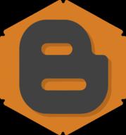 blogger hexagon icon