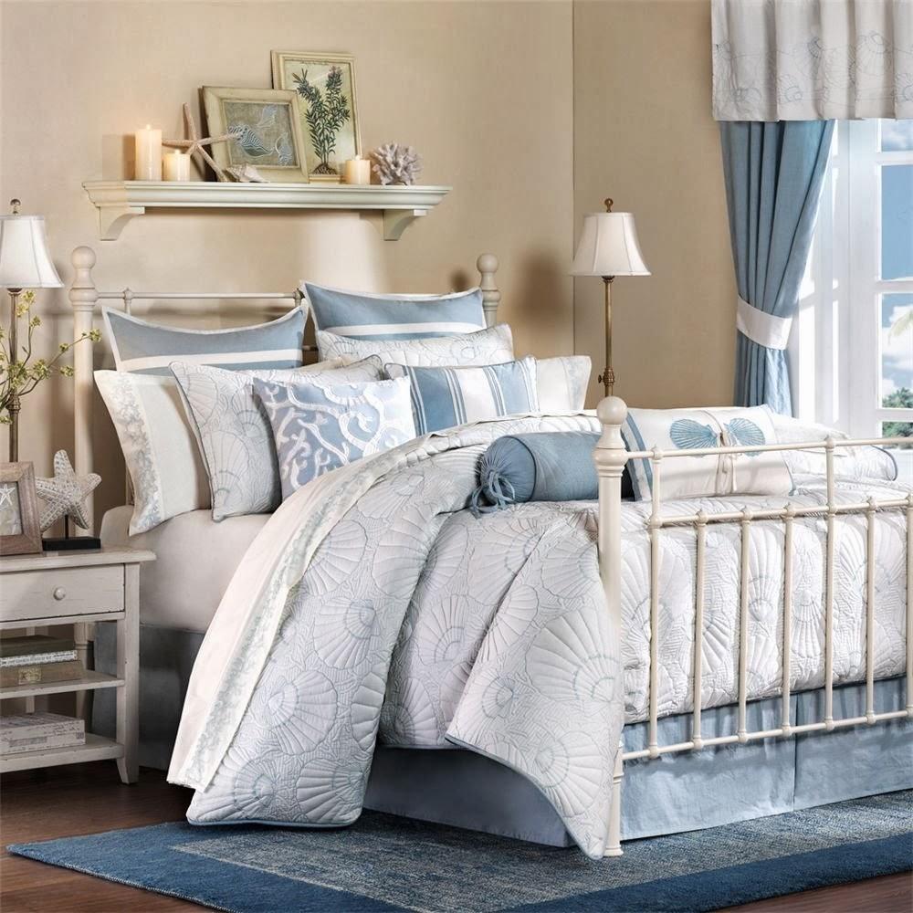 Harbor House Crystal Beach 4-Piece Comforter Set, White, Full