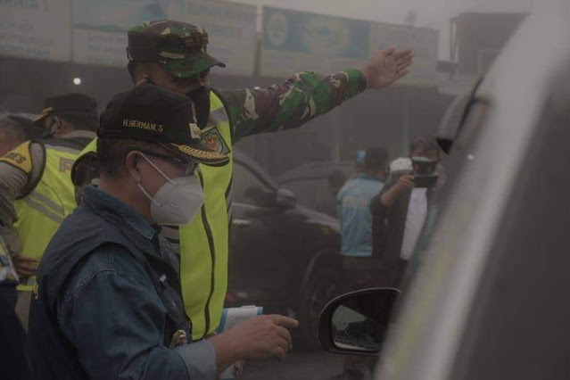 Plt Bupati Cianjur : 95 persen Kendaraan Yang Masuk Cianjur Tidak Memiliki Surat Keterangan Bebas Covid -19