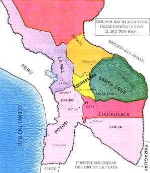 Bolivia Y El Mar Perspectiva Historica El Mapa Boliviano En 1825