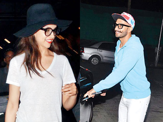 Ranveer Singh Suprises Deepika Padukone With a Bouquet at Mumbai Airport